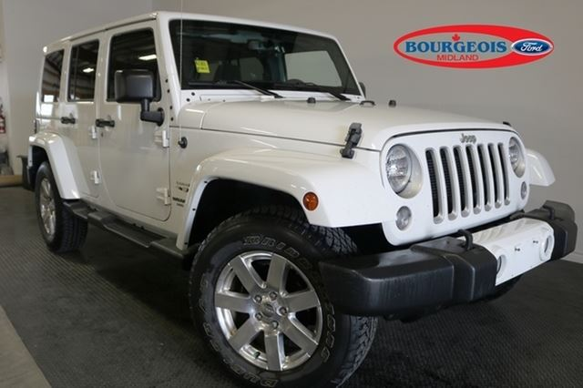 2016 JEEP WRANGLER Unlimited SAHARA 3.6L 6CYL in Midland, Ontario
