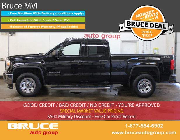 2015 GMC SIERRA 1500 WT 4.3L 8 CYL AUTOMATIC 4X4 EXTENDED CAB in Middleton, Nova Scotia