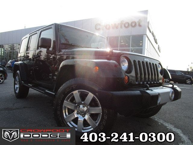 2013 JEEP WRANGLER Unlimited SAHARA UNLIMITED 4X4 in Calgary, Alberta