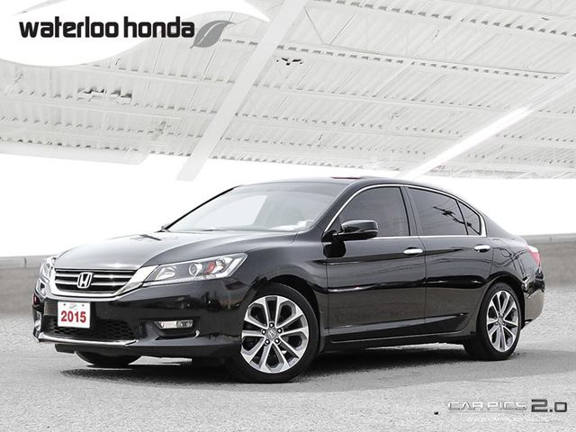 2015 HONDA ACCORD Sport 120,000 km Warranty! Back Up Camera, Heated Seats and more! in Waterloo, Ontario