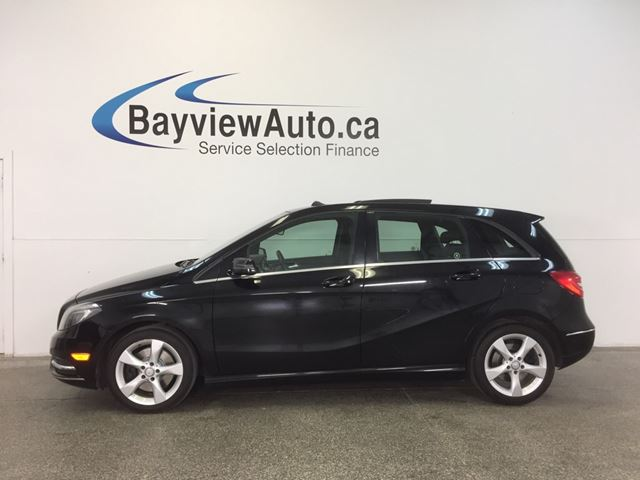 2013 MERCEDES-BENZ B-CLASS - TURBO! PANOROOF! LEATHER! BSA! REV CAM! in Belleville, Ontario