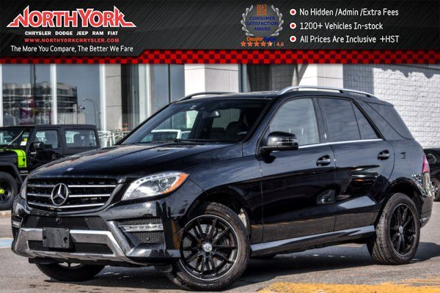 2015 MERCEDES-BENZ M-Class ML 400 4MATIC Sunroof Nav 360_Cam H/KAudio Leather 19Alloys in Thornhill, Ontario