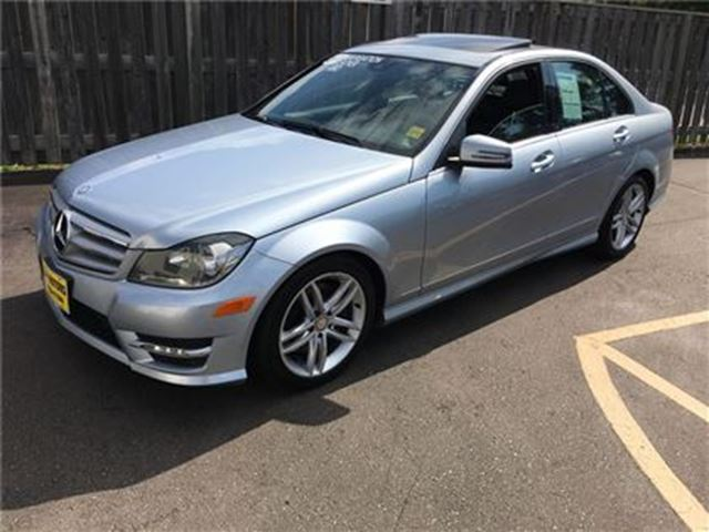 2013 MERCEDES-BENZ C-CLASS 300, Automatic, Navigation, Leather, Sunroof, AWD in Burlington, Ontario