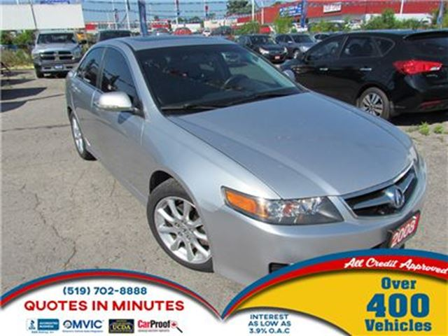 2008 ACURA TSX NAVIGATION   LEATHER   SUNROOF in London, Ontario