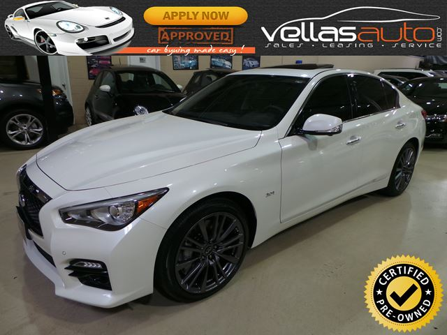 2016 INFINITI Q50 Red Sport 400 RED SPORT 400| PEARL WHITE  in Vaughan, Ontario