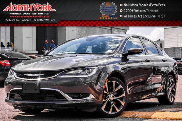 2016 CHRYSLER 200 C PanoSunroof Nav Leather R-Start Backup_Cam HtdFrntSeats 19 Alloys in Thornhill, Ontario