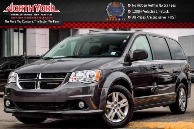 2016 DODGE GRAND CARAVAN Crew Power Doors Backup_Cam Leather Stow n'Go 17Alloys in Thornhill, Ontario