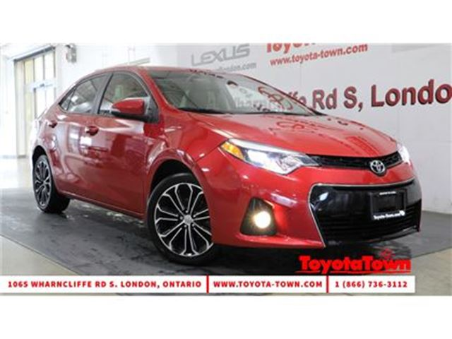 2015 TOYOTA COROLLA S TECH PACKAGE LEATHER in London, Ontario
