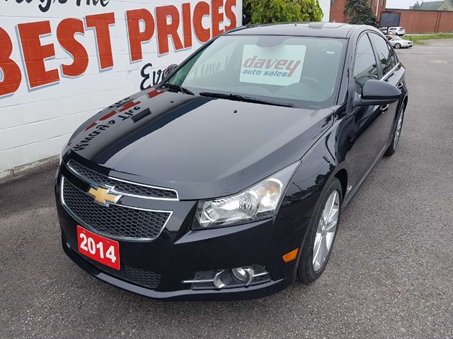 2014 CHEVROLET CRUZE 2LT RS PACKAGE! SUNROOF, LEATHER INTERIOR in Oshawa, Ontario