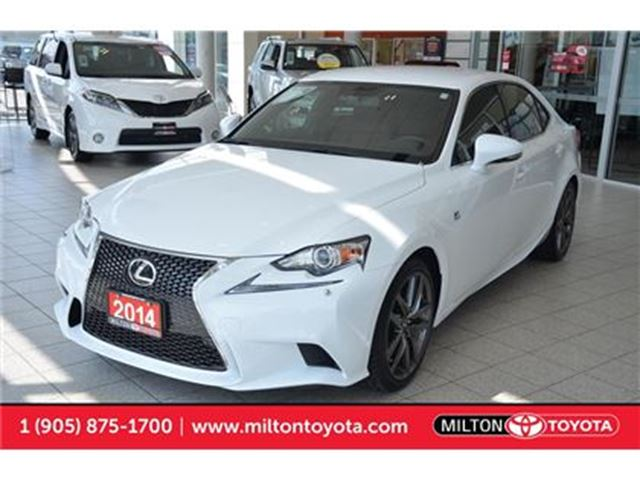 2014 LEXUS IS 250 F Sport, AWD, Push Start, Red Leather in Milton, Ontario