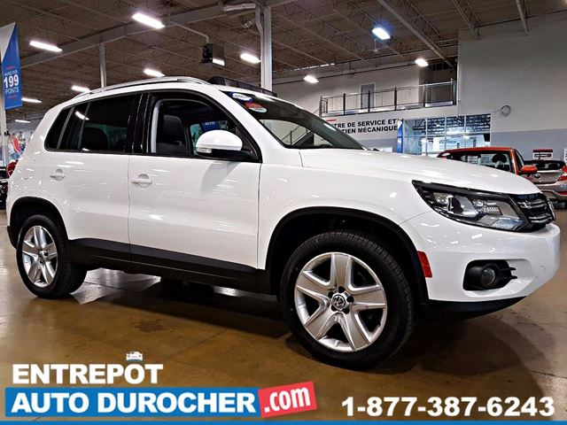 2014 VOLKSWAGEN TIGUAN HIGHLINE 4 X 4 TOIT PANORAMIQUE CUIR JANTES 18  in Laval, Quebec