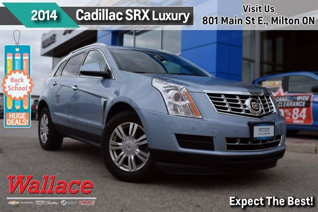 2014 Cadillac SRX LUXURY/1-OWNER/AWD/MOONROOF/HTD SEATS/REAR CAM in Milton, Ontario