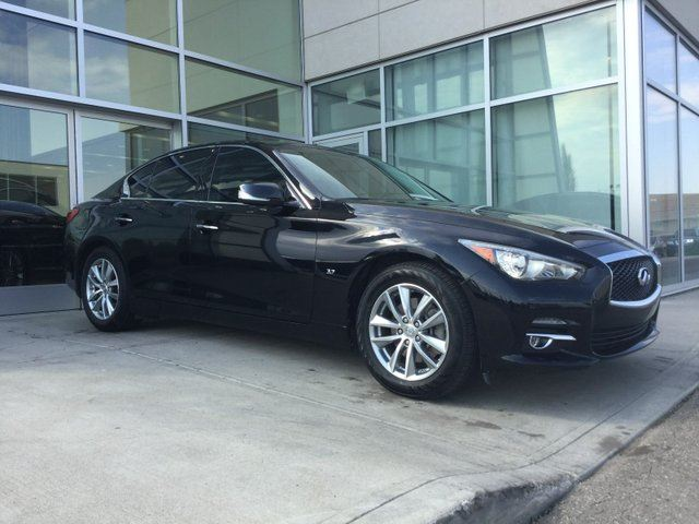 2014 INFINITI Q50 AWD/HEATED FRONT SPORT SEATS/NAVIGATION/BACK UP MONITOR/LEATHER INTERIOR in Edmonton, Alberta
