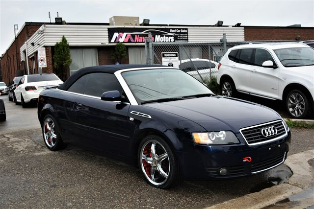 2004 AUDI A4 1.8T Leather Convertible Upgraded Wheels in Brampton, Ontario