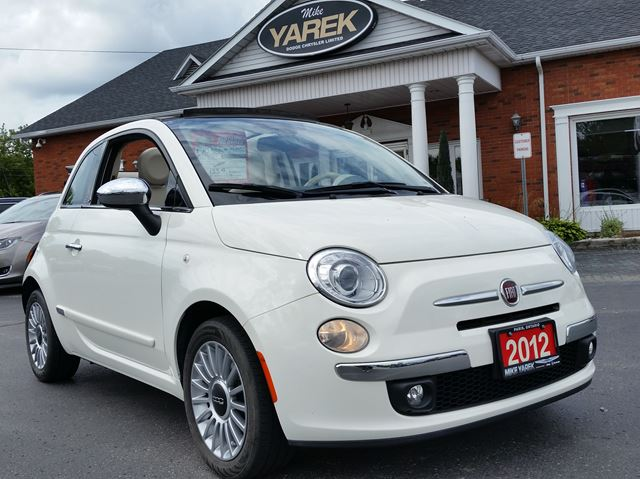 2012 FIAT 500 500C Lounge Convertible, Leather Heated Seats, Rear Sensors, Bluetooth in Paris, Ontario