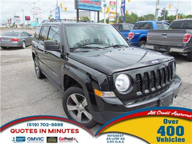 2016 JEEP PATRIOT HIGH ALTITUDE   LEATHER   SUNROOF   4X4   BT in London, Ontario