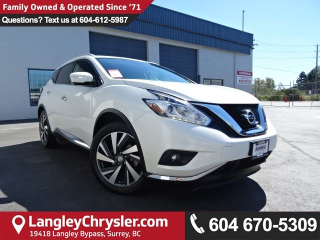 2015 NISSAN MURANO Platinum *ACCIDENT FREE*ONE OWNER*LOCAL BC CAR* in Surrey, British Columbia