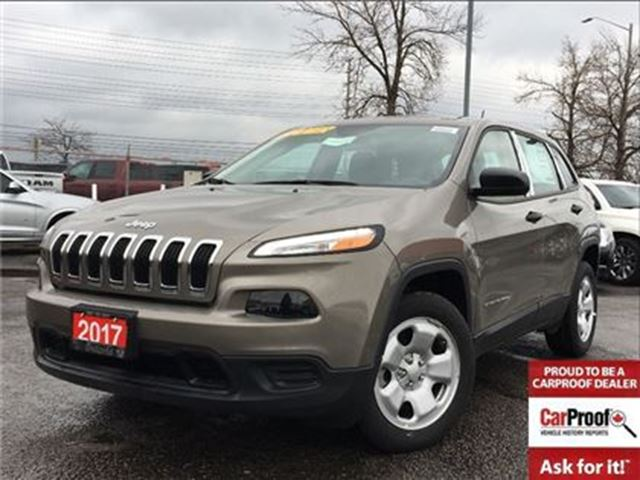 2017 JEEP Cherokee SPORT**BLUETOOTH**5.0 TOUCHSCREEN** in Mississauga, Ontario