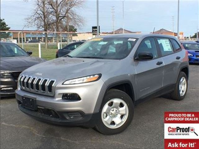 2017 JEEP Cherokee SPORT**BLUETOOTH**4X4**5.0 TOUCHSCREEN** in Mississauga, Ontario