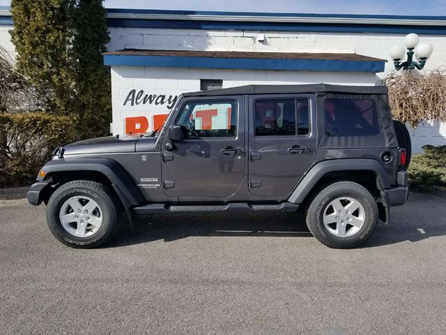 2016 jeep wrangler unlimited sport soft top 4x4 6 speed manual oshawa ontario car for sale. Black Bedroom Furniture Sets. Home Design Ideas