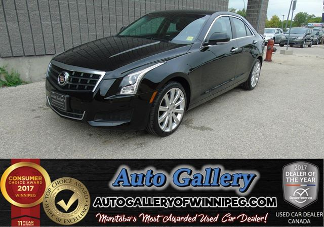 2013 CADILLAC ATS Luxury AWD*Lthr/Roof in Winnipeg, Manitoba