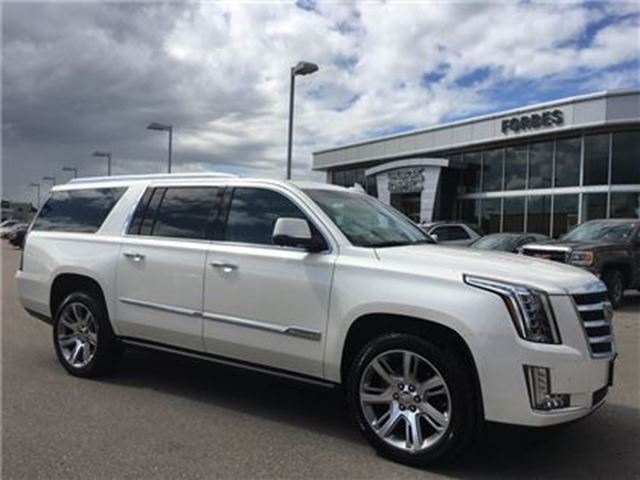 2015 CADILLAC ESCALADE ESV Premium \ DVD\ DRIVER AWARENESS PKG \ in Waterloo, Ontario