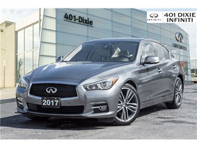 2017 INFINITI Q50 AWD, Technology Pkg! Navigation, Blind Spot! in Mississauga, Ontario