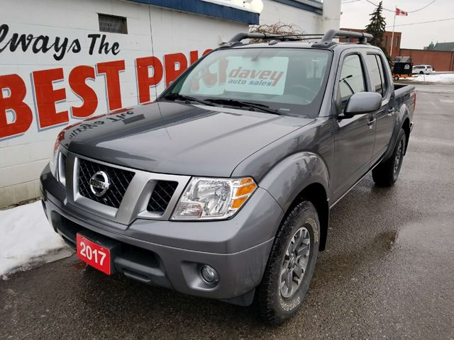 used 2017 nissan frontier pro 4x 4x4 crew cab sunroof oshawa. Black Bedroom Furniture Sets. Home Design Ideas