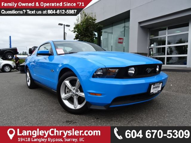 2011 FORD MUSTANG GT *ACCIDENT FREE*ONE OWNER*LOCAL BC CAR* in Surrey, British Columbia