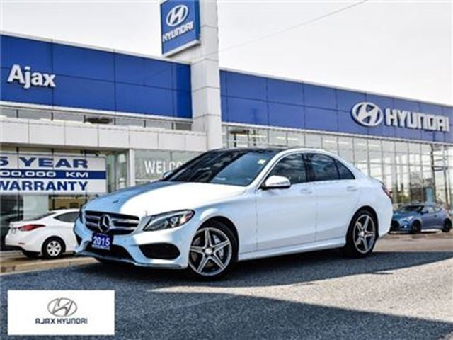 2015 MERCEDES-BENZ C-CLASS C400 4Matic Sunroof Leather Navi in Ajax, Ontario