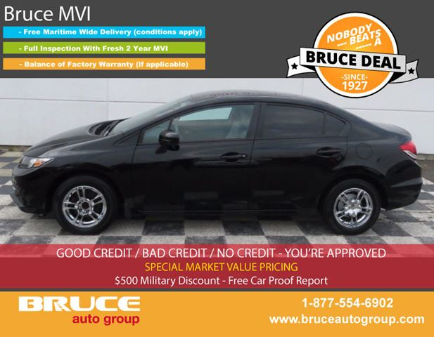 2014 HONDA CIVIC LX 1.8L 4 CYL I-VTEC CVT FWD 4D SEDAN in Middleton, Nova Scotia