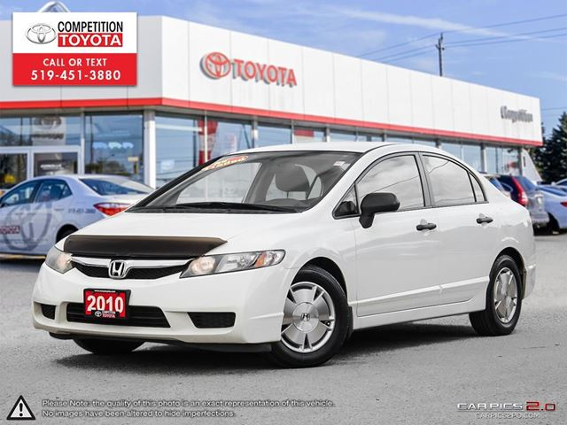 2010 HONDA CIVIC DX-G AS-IS, No Accidents in London, Ontario