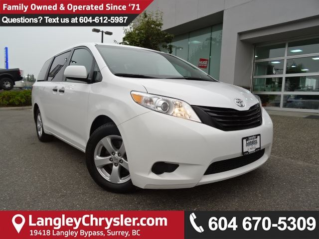 2016 TOYOTA SIENNA 7 Passenger *ACCIDENT FREE*ONE OWNER*LOCAL BC VAN* in Surrey, British Columbia