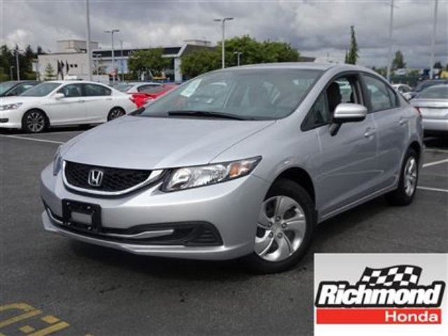 2015 HONDA Civic LX! Honda Certified Extended Warranty to 160, 000 in Richmond, British Columbia