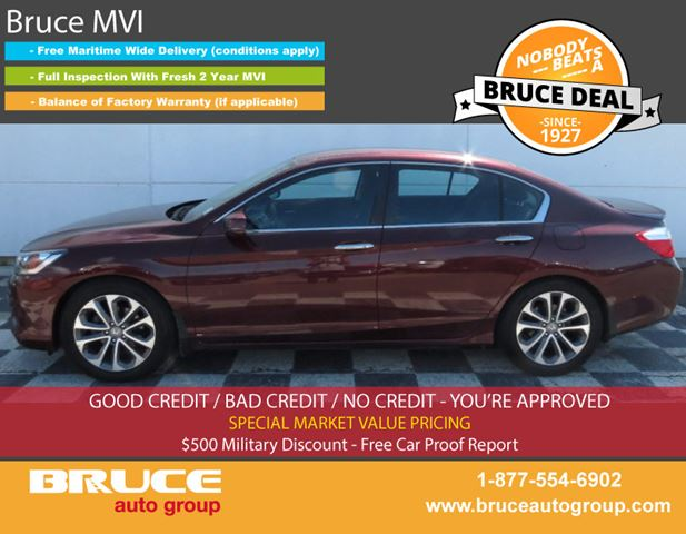 2013 HONDA ACCORD Sport 2.4L 4 CYL i-VTEC CVT FWD 4D SEDAN in Middleton, Nova Scotia