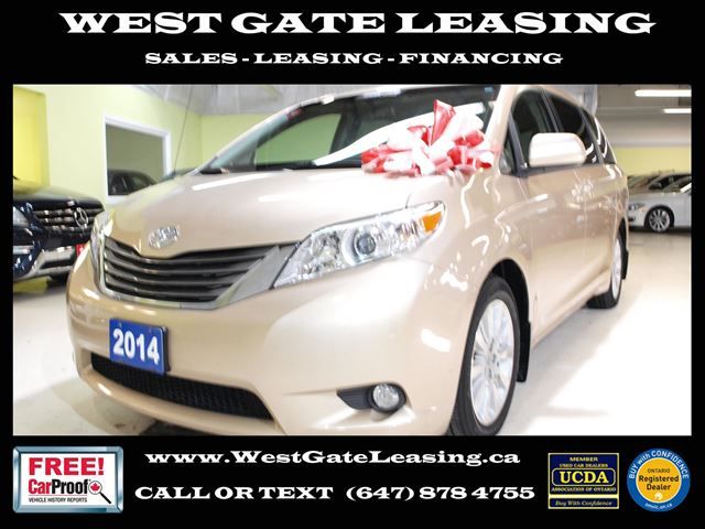 2014 TOYOTA Sienna XLE  LEATHER  CAMERA  SUNROOF  in Vaughan, Ontario