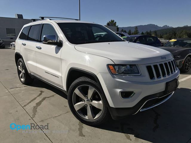 2015 JEEP GRAND CHEROKEE Limited A/T 4WD No Accident Bluetooth USB AUX L in Port Moody, British Columbia