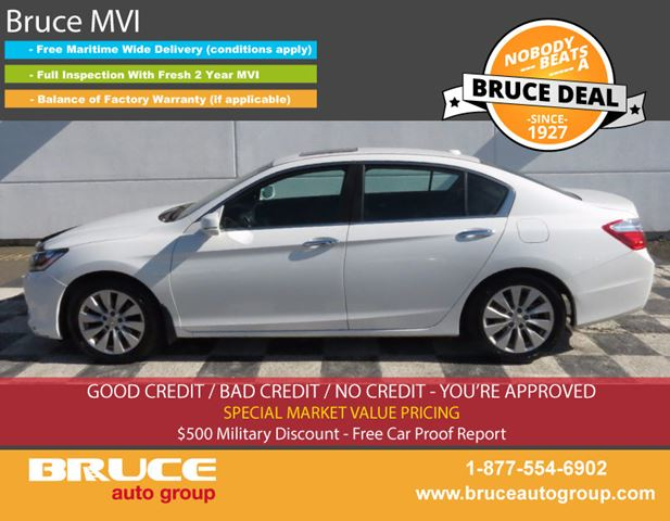 2013 HONDA ACCORD Ex-L 2.4L 4 CYL I-VTEC CVT FWD 4D SEDAN in Middleton, Nova Scotia