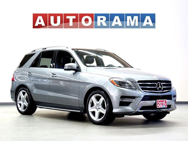2015 MERCEDES-BENZ M-Class BLUETECH NAVI BACKUP CAM LEATHER SUNROOF 4WD in North York, Ontario