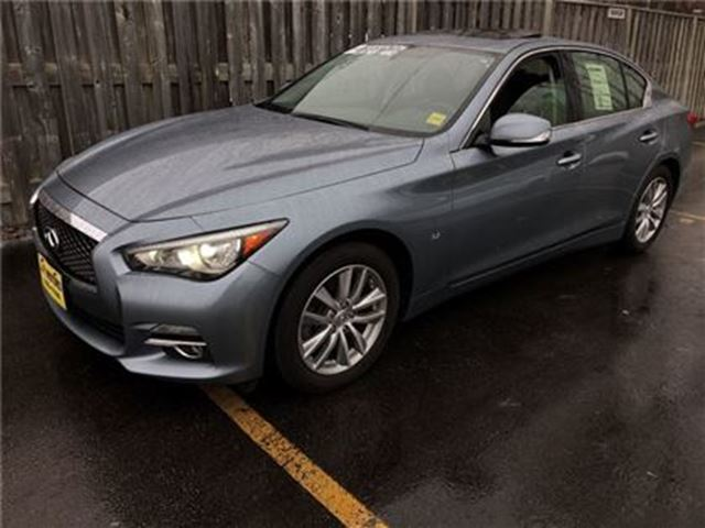 2014 INFINITI Q50 Premium, Auto, Navigation, Leather, Sunroof, AWD in Burlington, Ontario