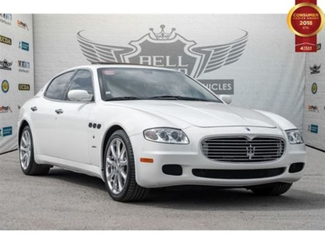 2008 MASERATI QUATTROPORTE LUXURY LEATHER SUNROOF NAVIGATION in Toronto, Ontario
