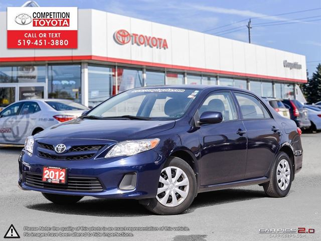 2012 TOYOTA Corolla CE One Owner, Toyota Serviced in London, Ontario