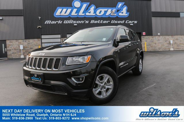 2015 JEEP GRAND CHEROKEE LAREDO 4WD! PUSH BUTTON START! PWR DRIVER'S SEAT! BLUETOOTH! CRUISE CONTROL! POWER PKG! 17 ALLOYS! in Guelph, Ontario