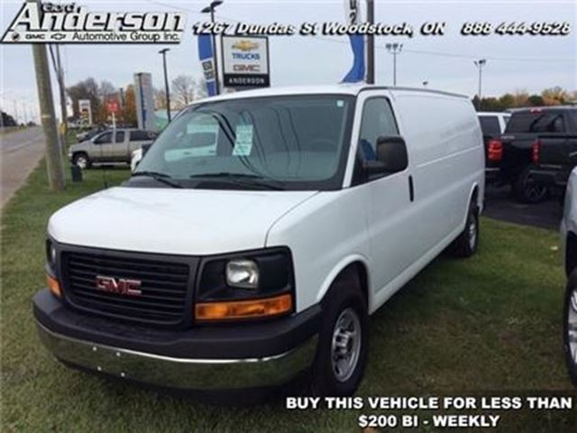 2017 GMC SAVANA WT -  Power Windows -  Power Doors - Low Mileage in Woodstock, Ontario