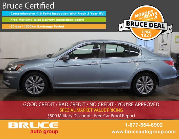 2011 HONDA ACCORD EX-L 3.5L 6 CYL I-VTEC AUTOMATIC FWD 4D SEDAN in Middleton, Nova Scotia