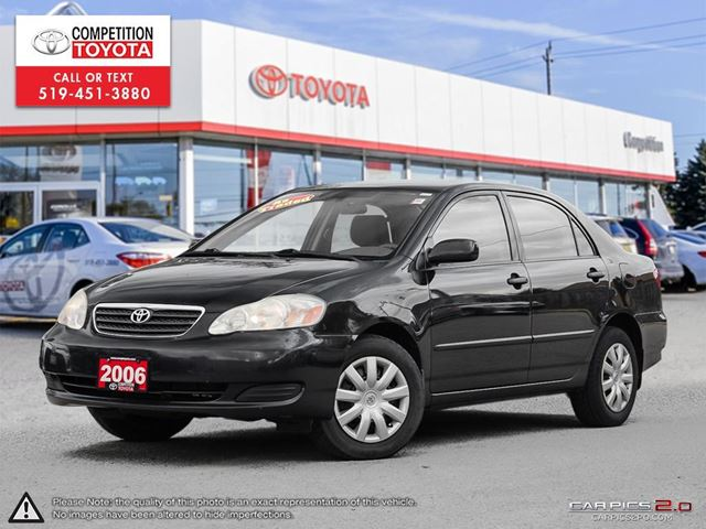 2006 TOYOTA Corolla CE AS-IS, One Owner, No Accidents, Toyota Serviced in London, Ontario