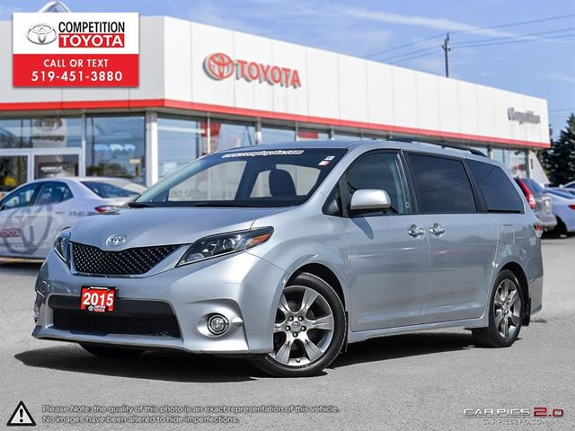 2015 TOYOTA Sienna SE 8 Passenger One Owner, No Accidents, Toyota Serviced in London, Ontario