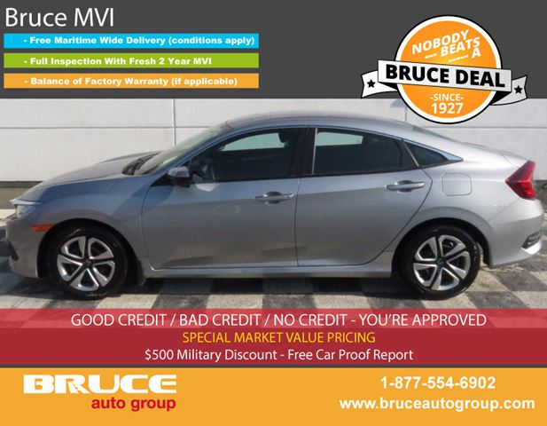 2016 HONDA CIVIC LX 2.0L 4 CYL I-VTEC CVT FWD 4D SEDAN in Middleton, Nova Scotia
