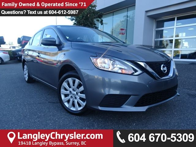 2016 NISSAN SENTRA 1.8 S *ACCIDENT FREE * DEALER INSPECTED * CERTIFIED * in Surrey, British Columbia