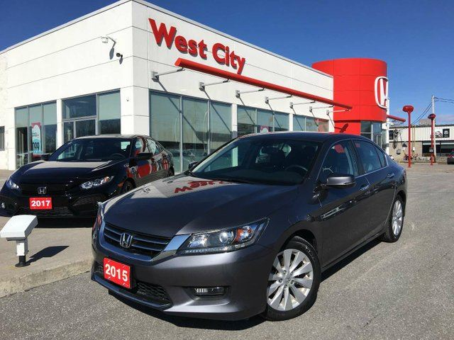 2015 HONDA Accord EX-L, LEATHER, HEATED SEATS! in Belleville, Ontario